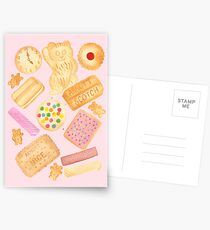 Biscuits In Bed Postcards