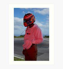Frank Ocean - Helmet Art Print