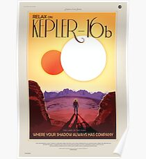 Relax on Kepler-16b - Where your shadow always has company Poster