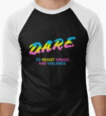 DARE 90s drugs tshirt shirt Men's Baseball ¾ T-Shirt