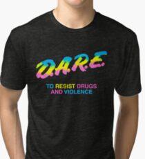 DARE 90s drugs tshirt shirt Tri-blend T-Shirt
