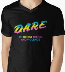 DARE 90s drugs tshirt shirt Men's V-Neck T-Shirt