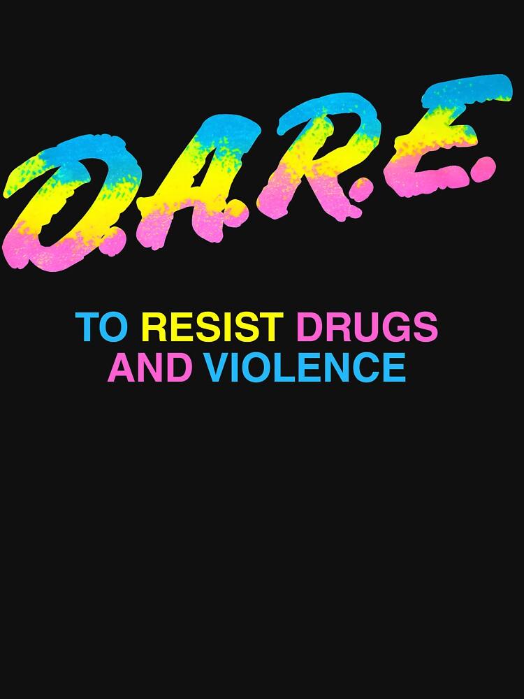 DARE 90s drugs tshirt shirt by simonZan