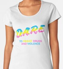 DARE 90s drugs tshirt shirt Women's Premium T-Shirt