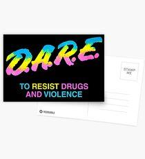 DARE 90s Drogen Tshirt Shirt Postkarten