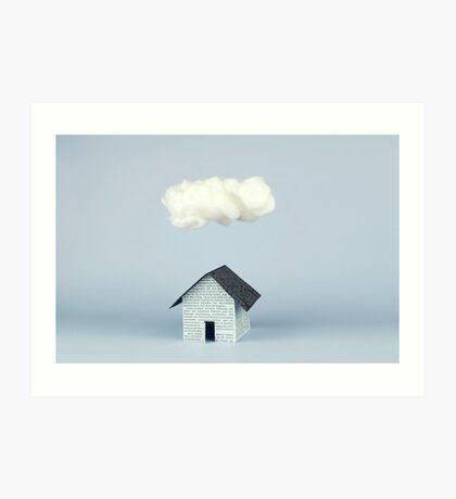 Eine Wolke über dem Haus Kunstdruck