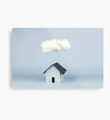 Eine Wolke über dem Haus Metallbild