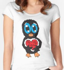 Be My Valentine Penguin Women's Fitted Scoop T-Shirt