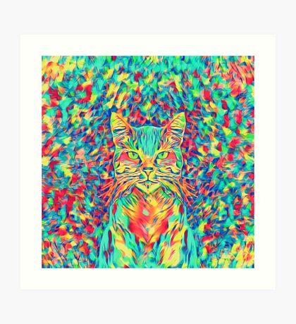 Color Cat Art Print
