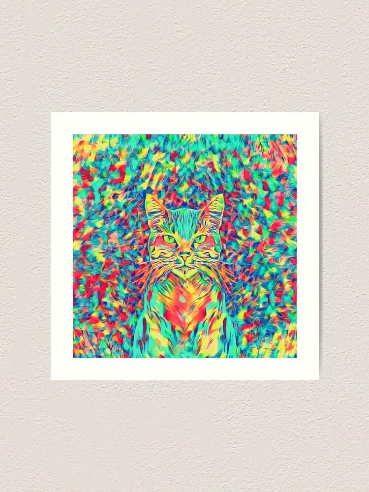Alternate view of Color Cat Art Print