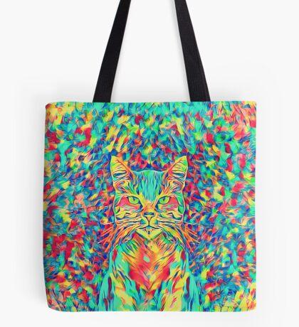 Color Cat Tote Bag