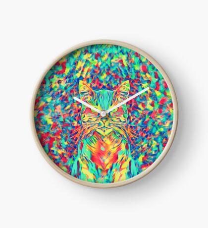 Color Cat Clock