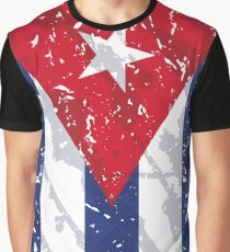 Cuba Grunge Vintage Flag Graphic T-Shirt