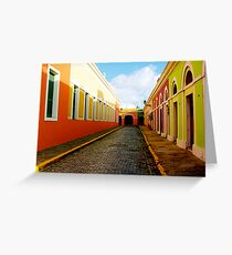 Old San Juan Colors Greeting Card
