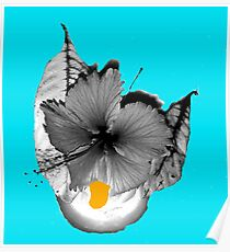 Flower , Leaves ; Candle Lit Poster