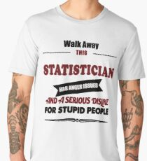 statistician Statics birthday gift costume t shirt Men's Premium T-Shirt