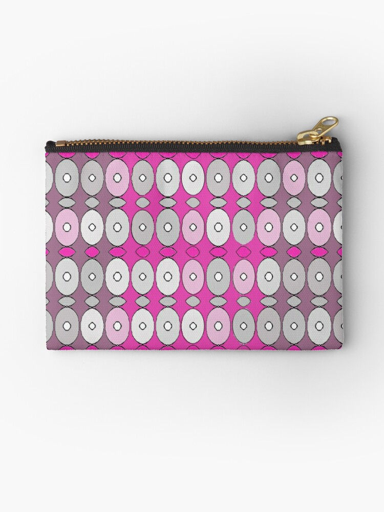 Pretty in Pink and Gray - Cute, feminine pattern by Suzeology