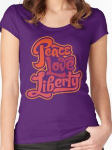 Peace Love Liberty Women's Fitted Scoop T-Shirt