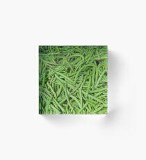 Green Beans Acrylic Block
