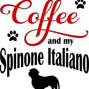 Coffee and my Spinone Italiano by Flaudermoon