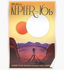 Nasa-Reise-Plakat-Kepler-16b Poster