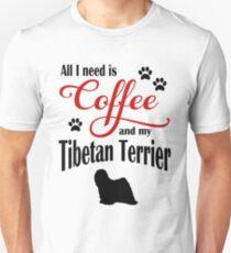 Coffee and my Tibetan Terrier T-Shirt