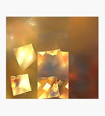 Ruby Gold Cubes Photographic Print