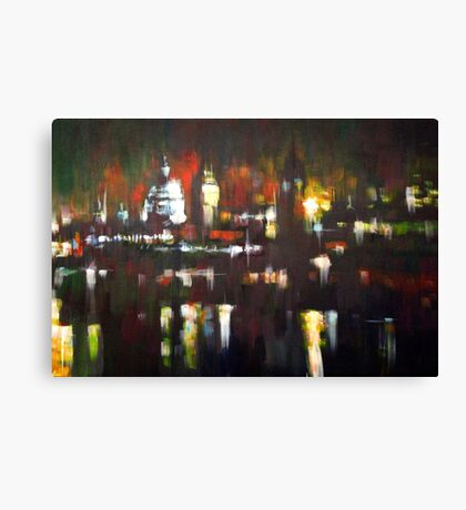 London Skyline Abstract Realism 2008 Canvas Print