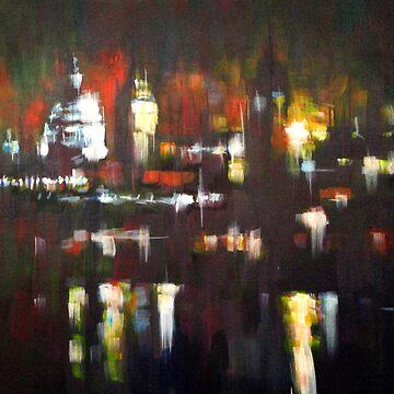 London Skyline Abstract Realism 2008 by SamDurkin
