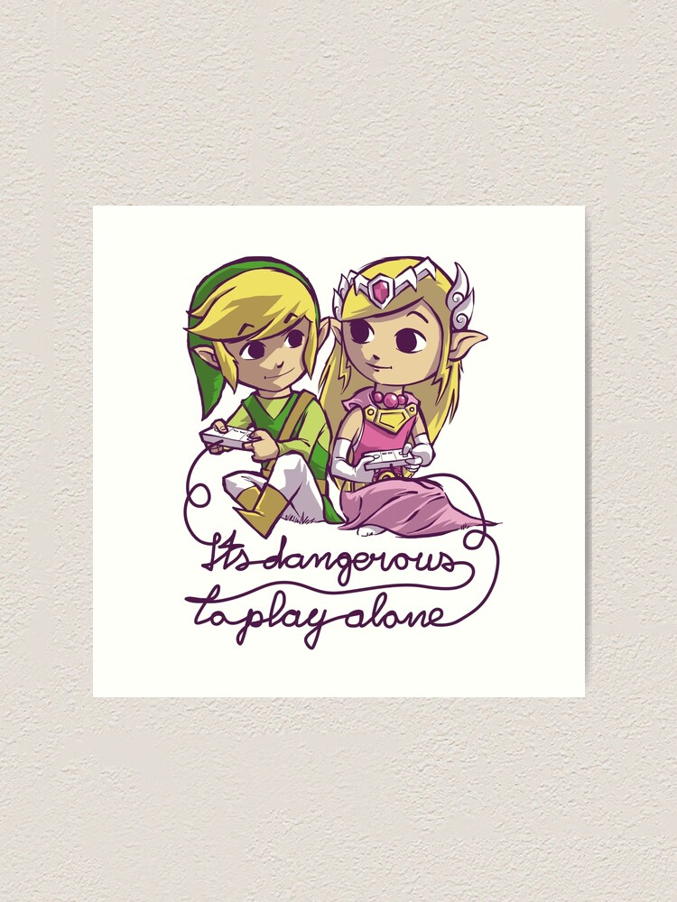 Alternate view of it's dangerous to play alone Art Print