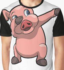Dabbing Pig Tshirt Graphic T-Shirt