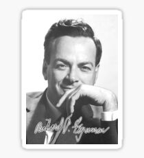 FEYNMAN, American, theoretical, physicist, Quantum Mechanics, nanotechnology Sticker