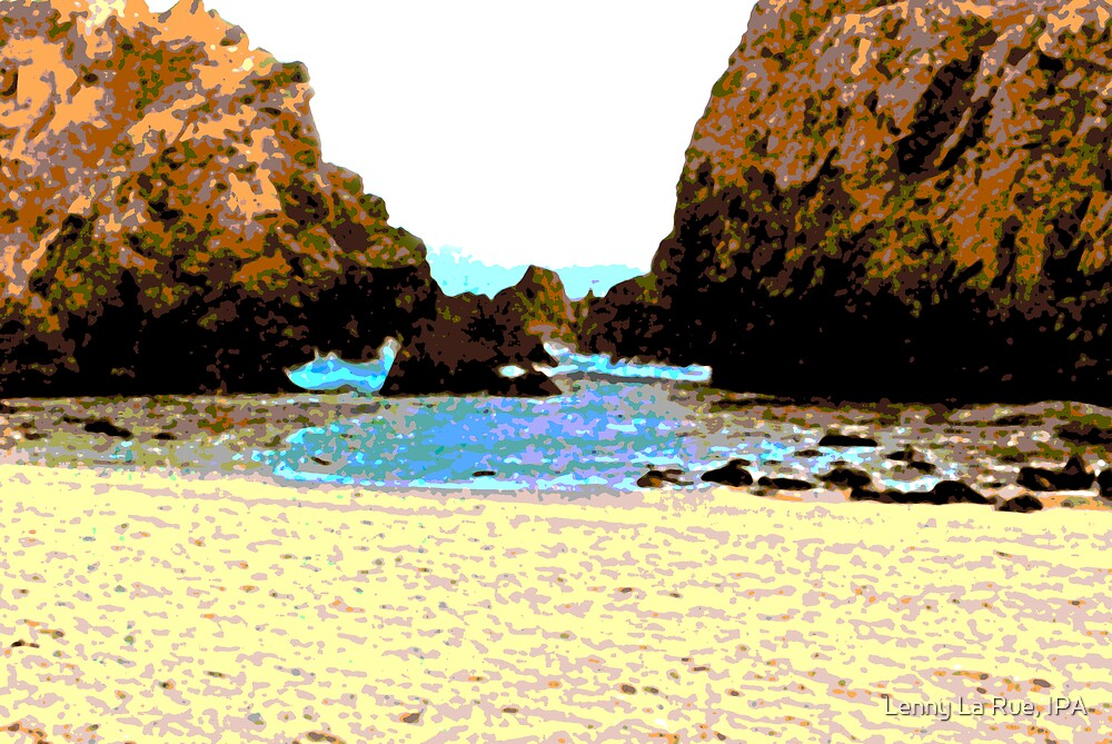 Big Sur on the rocks (abstracts) by Lenny La Rue, IPA