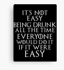Game of Thrones Season 3 Tyrion Lannister Quote Canvas Print