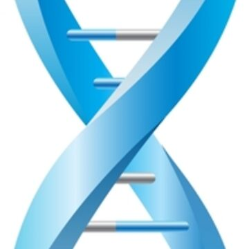 Vertical segment of blue human DNA helix by Smaragdas