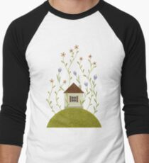 Tiny blooming house Men's Baseball ¾ T-Shirt