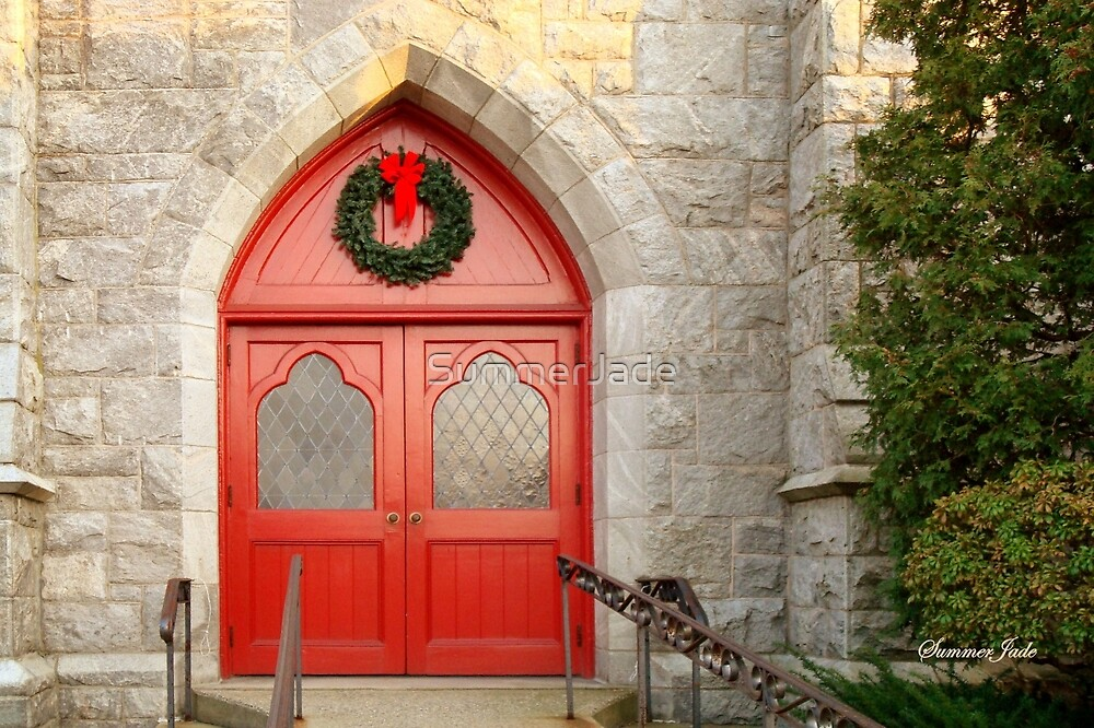 Church Doors in December by SummerJade