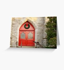 Church Doors in December Greeting Card