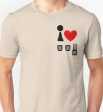 I Love Driving Manuals (Stacked) T-Shirt