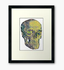 Hate and Love Framed Print