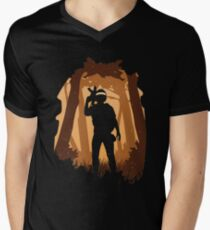 Unknown in the woods Men's V-Neck T-Shirt
