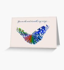 Wind Beneath my Wings . . . Greeting Card