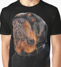 Photograph Portrait Of A Handsome Male Rottweiler Dog Graphic T-Shirt