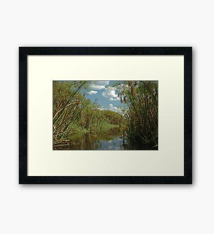 Okavango Delta from mokoro Framed Print
