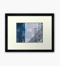 Backend town Framed Print