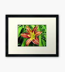 Only Flower Left Framed Print
