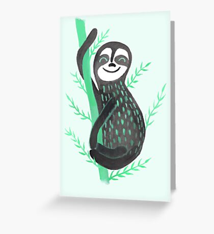 Drop it like it's Sloth Greeting Card