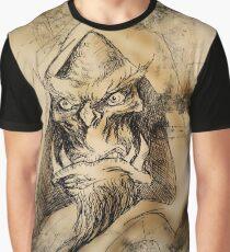 Fantasy Orc Necromancer Graphic T-Shirt