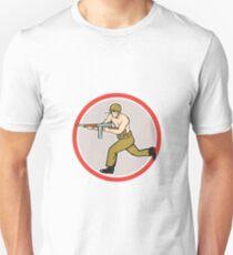 World War Two Soldier American Tommy Gun Unisex T-Shirt