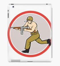 World War Two Soldier American Tommy Gun iPad Case/Skin